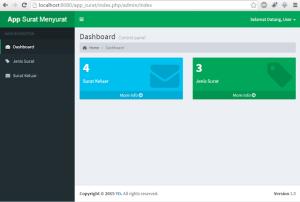 Contoh Aplikasi Surat Masuk Surat Keluar dengan PHP Codeigniter