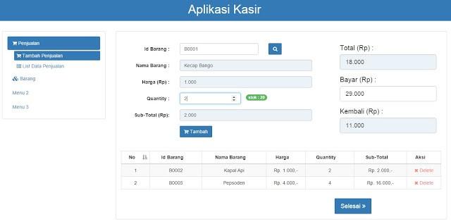 Program stock barang php editor download