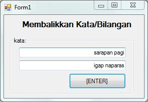 program membalikkan kata dan bilangan menggunakan visual basic 300x206 - Tutorial Membuat Aplikasi Pembalik Kata Dengan VB6