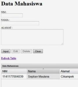 biodata-mahasiswa-ajax