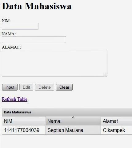 Download Program Bio Data Mahasiswa Menggunakan Ajax