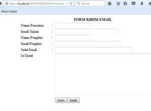 form untuk kirim email 300x220 - Tutorial PHP : Mengirim Email Dengan PHP