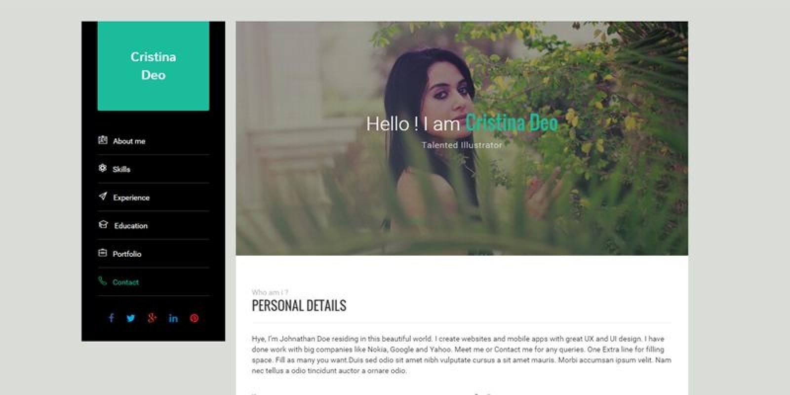 download template cv  resume berbasis html5