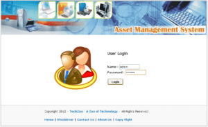 Asset Management Login 300x184 - Download Source Code IT Asset Management System Project in PHP