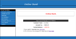 Online Bank Management System Front page Check Balance java 300x155 - Online Bank Management System project in java - Source Code Download