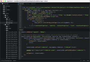 atom text editor 300x209 - 7 Alternatif Software Code/Text Editor Gratis Untuk Programmer