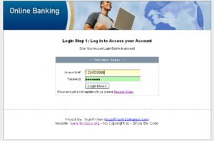 online banking php 1 300x198 - Download Source Code Online Banking project in PHP