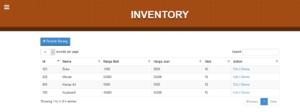 Source Code Aplikasi Inventory dan Kasir (POS) Berbasis Codigniter