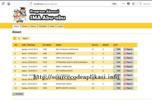 Source Code Aplikasi Absensi Siswa Berbasis Codeigniter