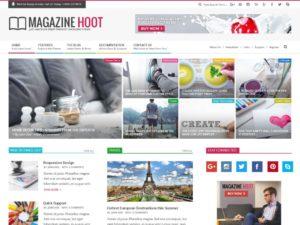 magazine wordpress theme 300x225 - Download Template Wordpress - Magazine Hoot - Untuk Blog Berita