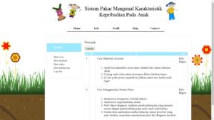 sistem pakar anak php 3 300x169 - Source Code Sistem Pakar Mengenal Karakteristik Kepribadian Anak Berbasis Php