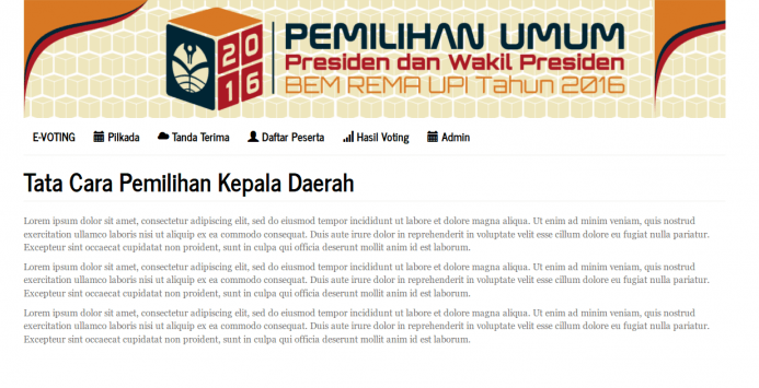 aplikasi e voting berbasis web 2 - Download Gratis E-Voting Online   Berbasis Codeigniter