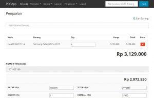 Source Code Aplikasi Penjualan (Point of Sale) Untuk Toko Berbasis Codeigniter
