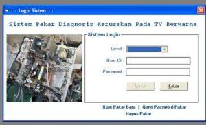sistem pakar diagnosa kerusakan tv menggunakan vb 300x182 - Download Source Code Aplikasi Sistem Pakar Diagnosa Kerusakan TV Berbasis VB