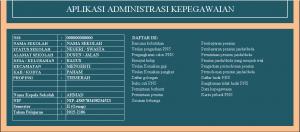 aplikasi kepegawaian berbasis excel 300x132 - Download Aplikasi Administrasi Kepegawaian Berbasis Excel