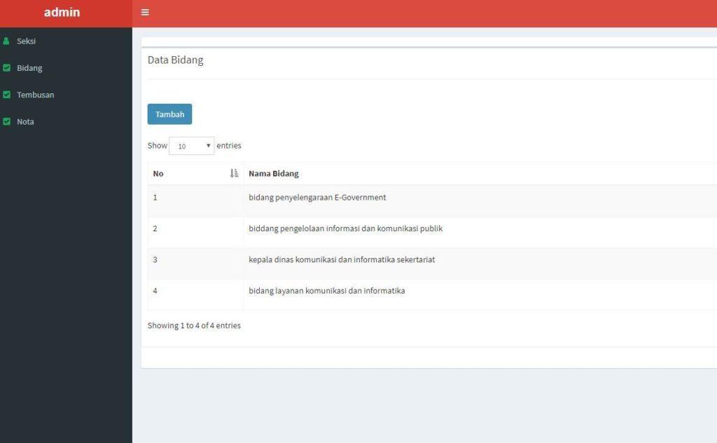 aplikasi nota surat berbasis codeigniter 1 1024x632 - Source Code Aplikasi Tembusan Surat Berbasis Codeigniter