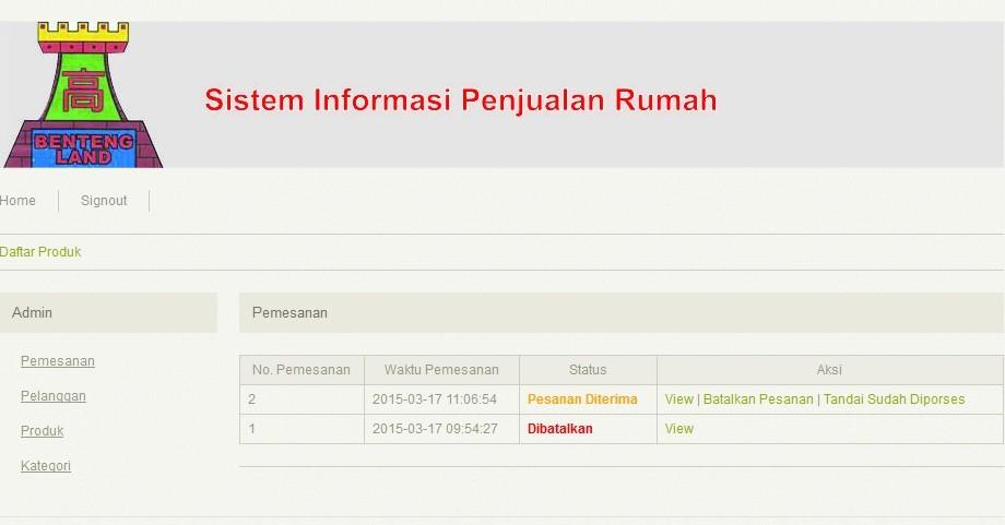 Sistem Informasi Penjualan Berbasis Web Pada Usantex Pdf Download Gratis