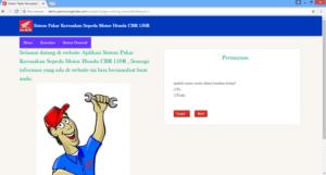 aplikasi sistem pakar diagnosa kerusakan motor berbasis web 2 300x161 - Download Aplikasi Sistem Pakar Diagnosa Kerusakan Motor Berbasis Php - Free Sourcecode