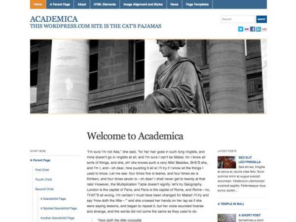 academica - 10 Template Wordpress Untuk Website Universitas