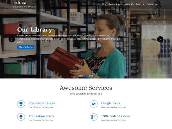 educa - Download Gratis 10 Theme Wordpress Website Sekolah