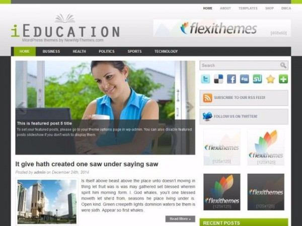 ieducation - Download Gratis 10 Template Wordpress Website Universitas Indonesia