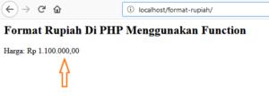 format rupiah pada php 300x109 - Tutorial Php : Cara Membuat Format Rupiah