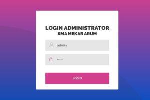 login sisfo sma 2 300x201 - Source Code Aplikasi Sistem Informasi Sekolah (SMA) Berbasis Codeigniter