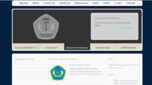 web sekolah sederhana1 300x168 - Source Code Website Sekolah Sederhana Berbasis Php & Mysql