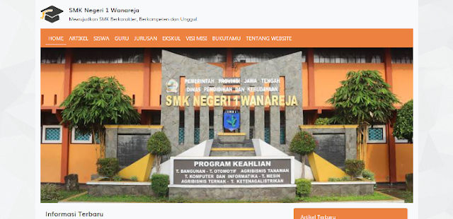 SMK Negeri 1 Wanareja - Download 12 Source Code Website Sekolah Siap Pakai - FREE