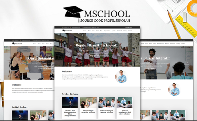 mschool - Download 12 Source Code Website Sekolah Siap Pakai - FREE