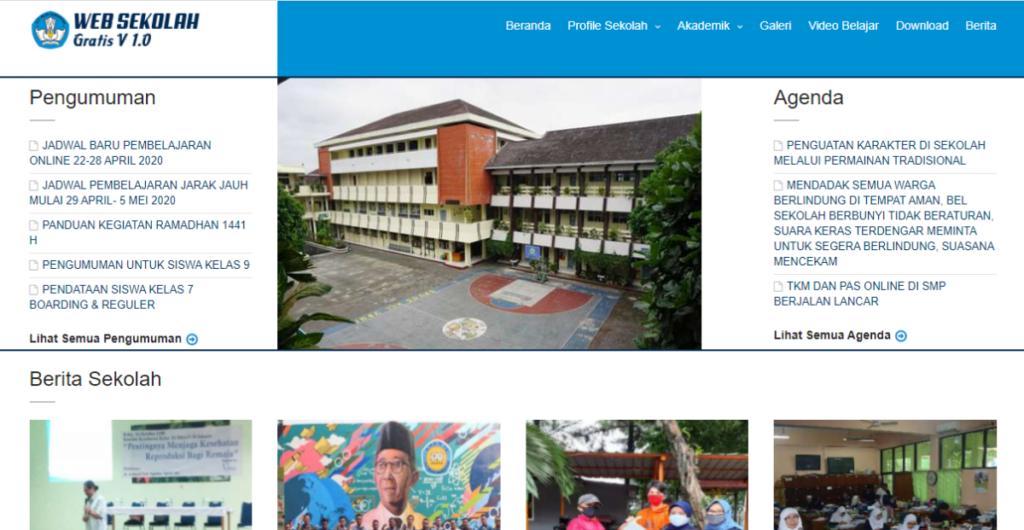 web sekolah gratis 1024x530 - Download 12 Source Code Website Sekolah Siap Pakai - FREE