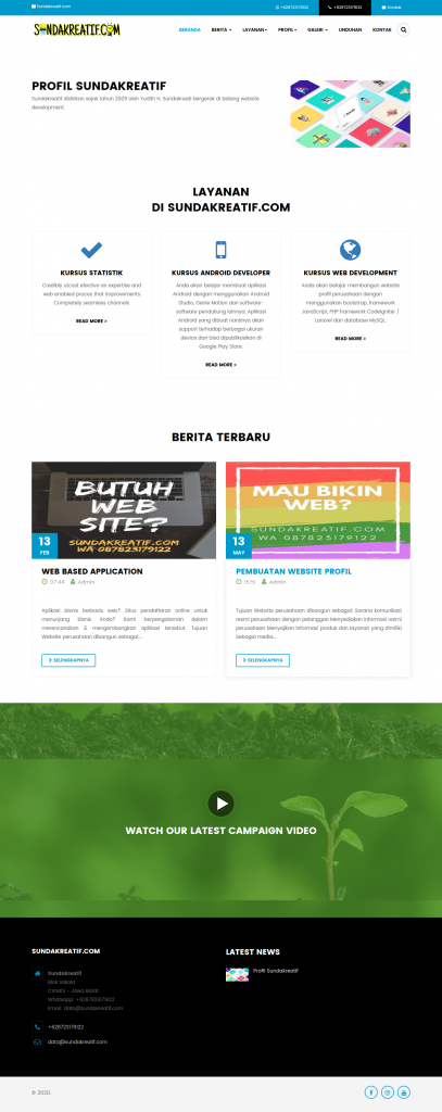 website company profile free - Download 11 Source Code Website Company Profile Siap Pakai - FREE