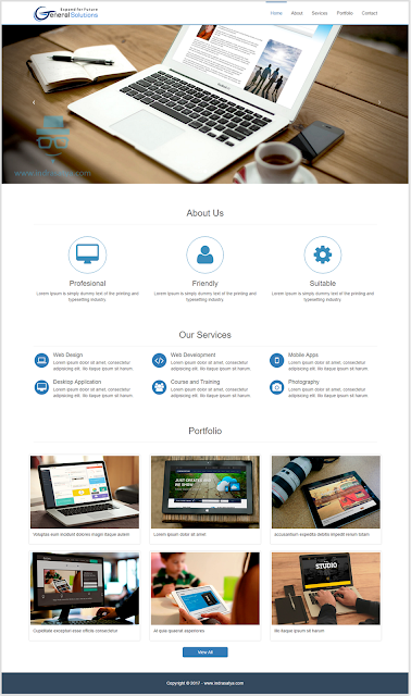 website company profile general solutions - Download 11 Source Code Website Company Profile Siap Pakai - FREE