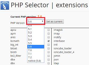 Select PHP Version - Cara Mengatasi Error Url Not Found Pada Codeigniter