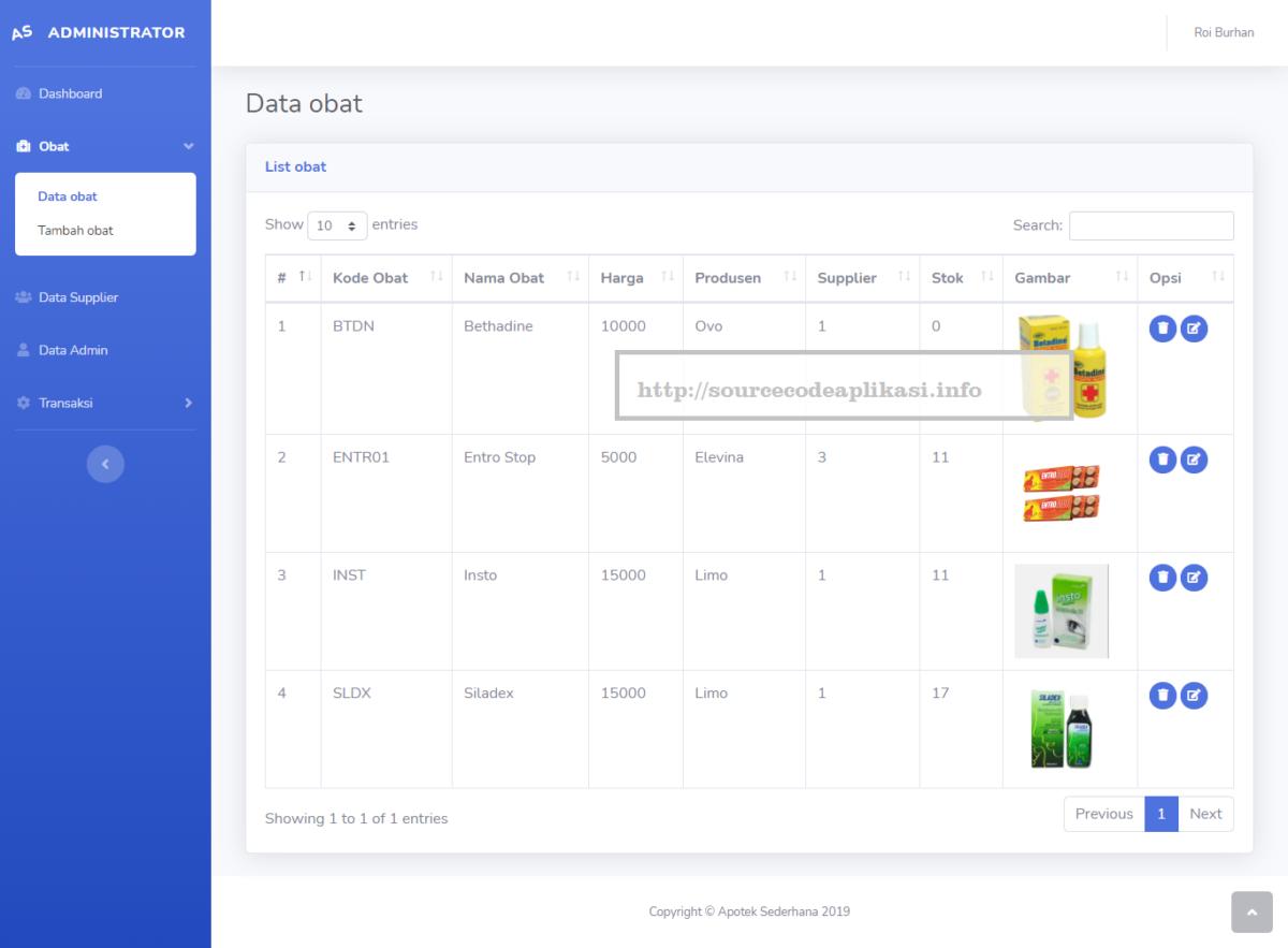 aplikasi apotek sederhana 1 - Source Code Aplikasi Apotek Berbasis Web Sederhana