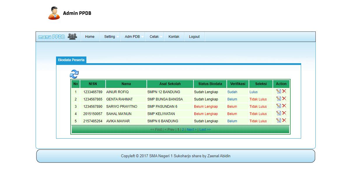 aplikasi ppdb sederhana 3 - Source Code Aplikasi PPDB Online Sederhana Berbasis Php