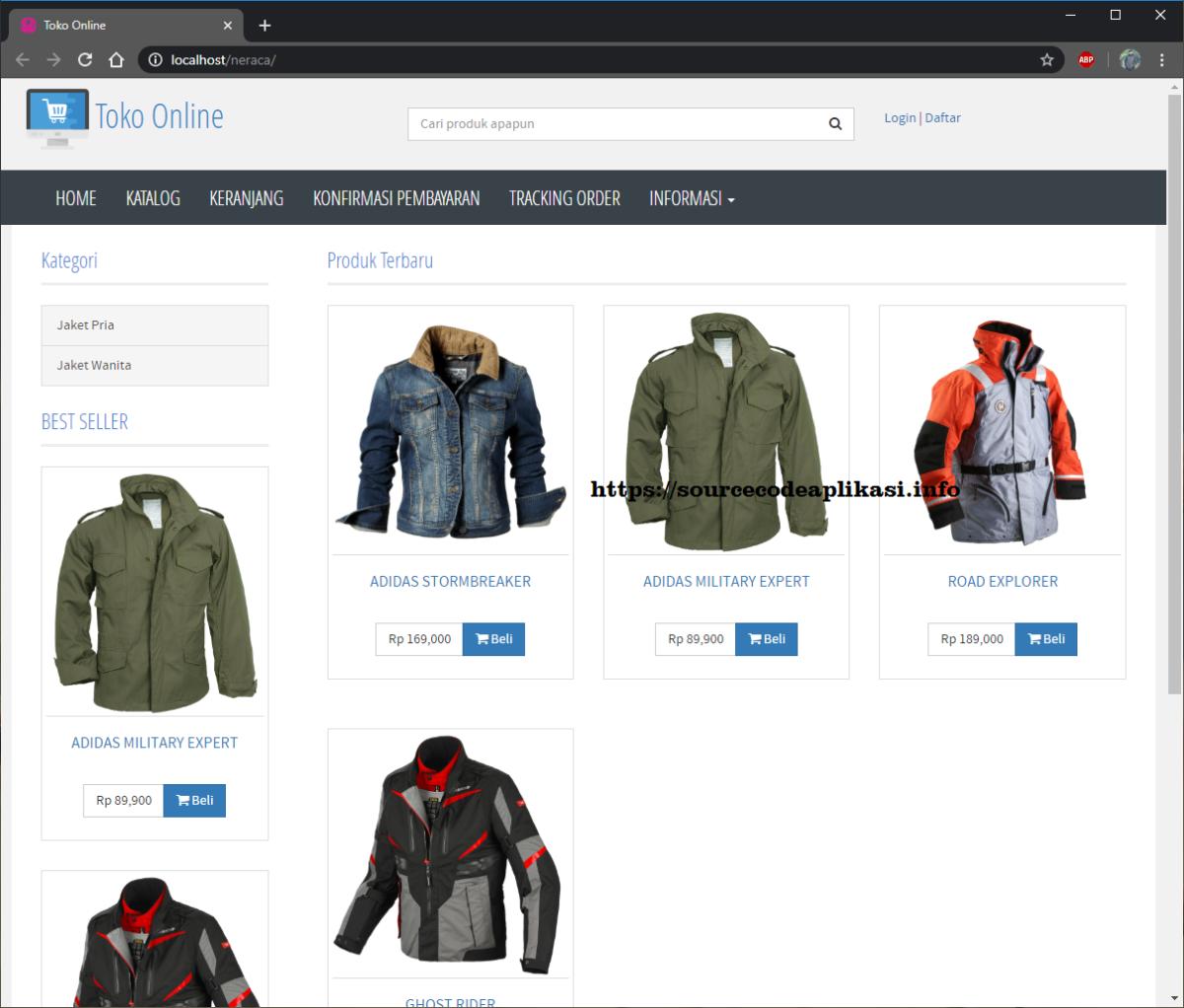aplikasi toko online 1 - Source Code Aplikasi Toko Online Berbasis Codeigniter