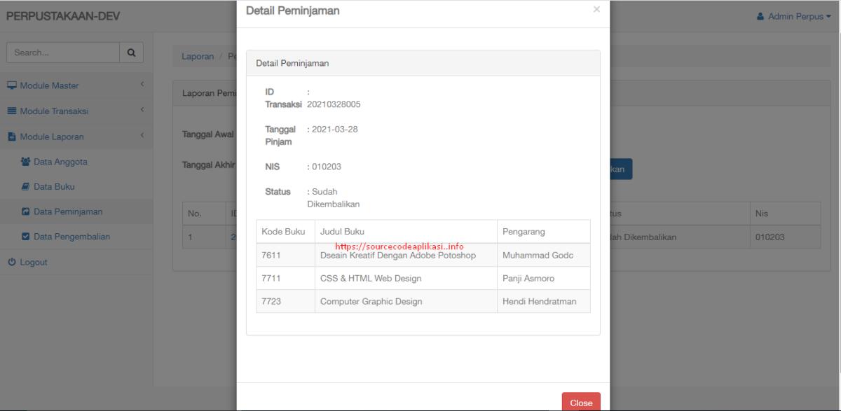 app perpus berbasis ci - Source Code Aplikasi Manajemen Perpustakaan Berbasis Web