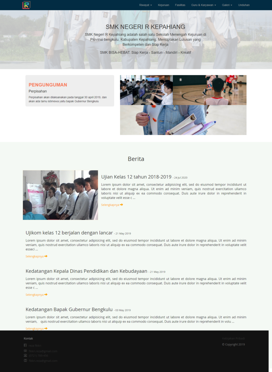 website sekolah berbasis codeigniter - Source Code Website Sekolah Menggunakan Codeigniter
