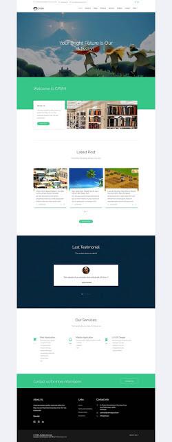 web company profile 1 - Source Code Website Company Profile Berbasis Codeigniter