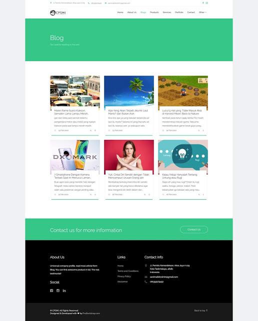 web company profile 2 - Source Code Website Company Profile Berbasis Codeigniter